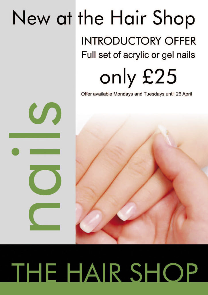 Nails The Hair Shop Promo A4