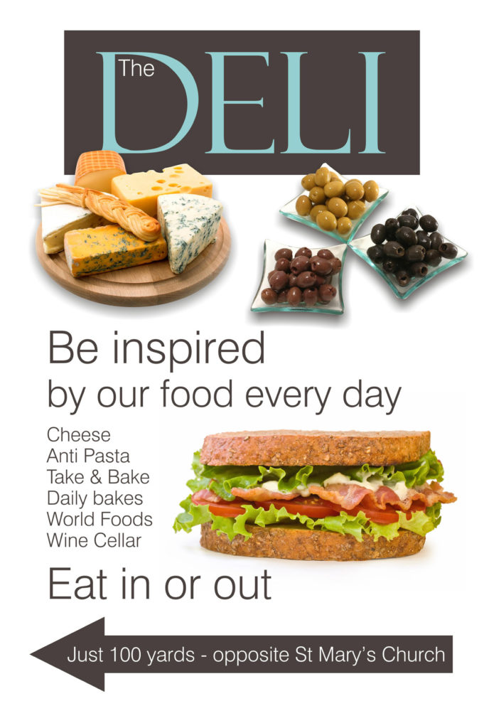 The Deli Outside board sign